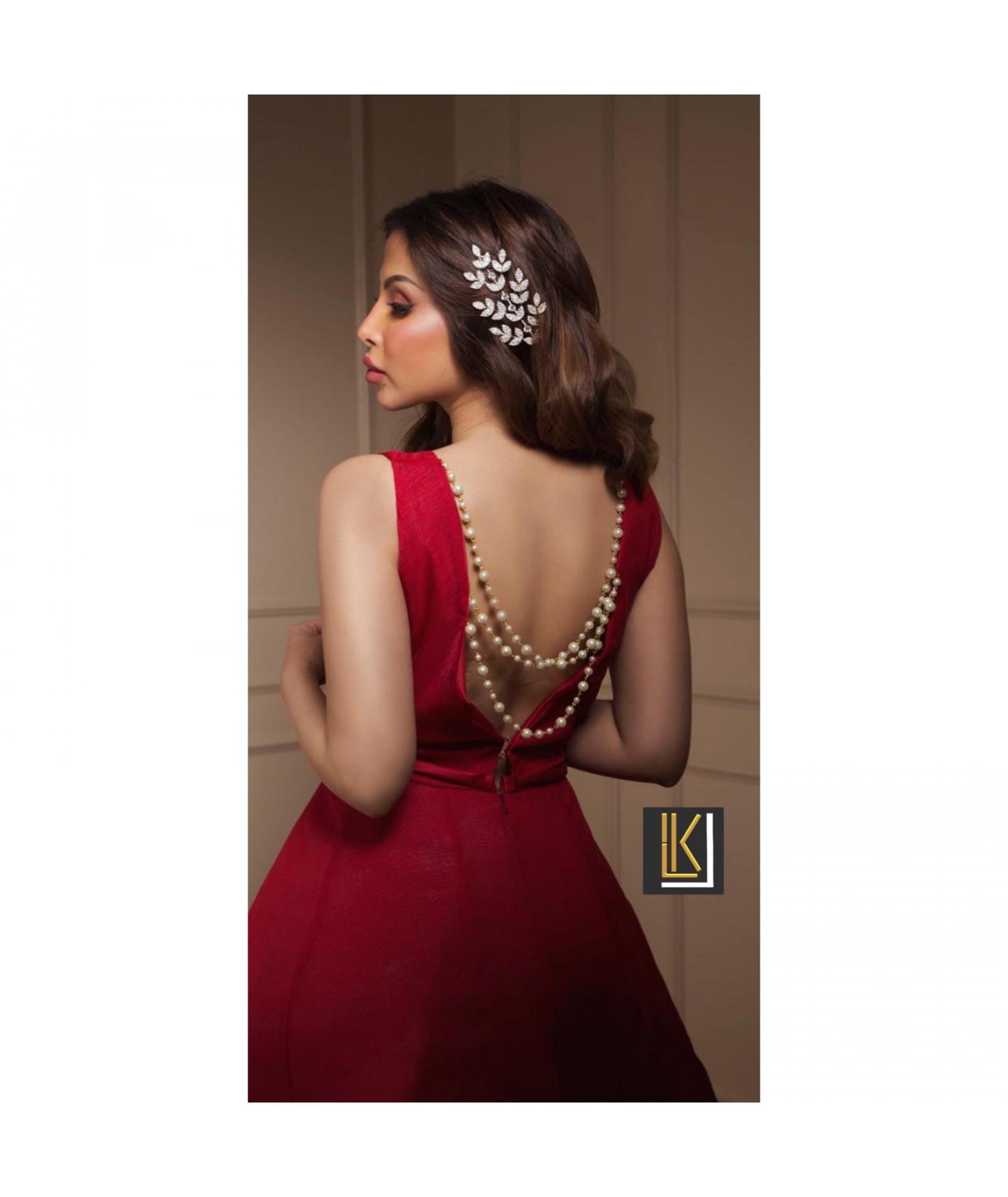 فستان سهره لون احمر