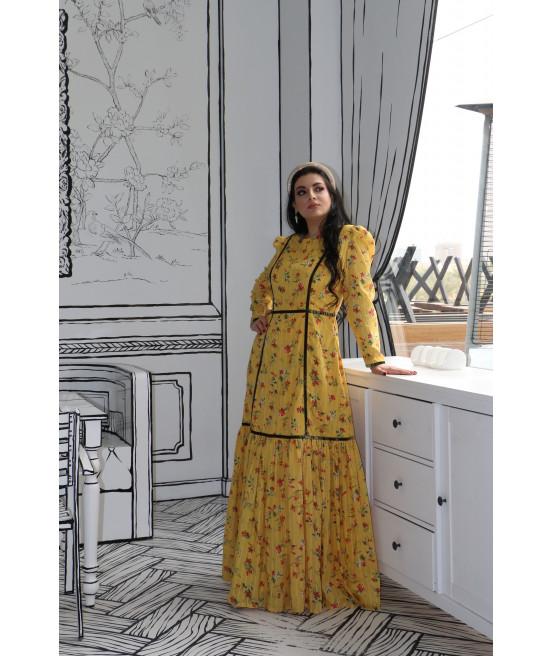 فستان قطن مشجر